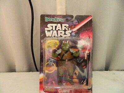 Star Wars Justoys BEND-EMS Vintage 1995 Gamorrean Guard SQUARE Bubble