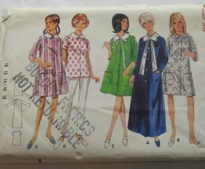 Vintage 1960's Butterick 4626 Robe in 3 Lengths Size 18 Bust 38 Waist 30 Hip 40