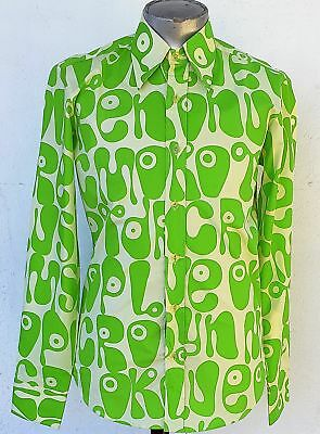 Funky 1970's inspired shirt by 'Chenaski of Germany' Moloko green/ yellow.