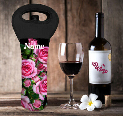 Roses Personalised Wine Bottle Cooler Carry Bag