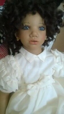 "Minou by Annette Himstedt  1995 10th year Anniversary Doll Rare and ""As New"""