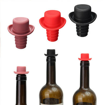 Silicone Small Hat Beer Bottle Stopper Wine Stopper Cork Bottle Caps Closures