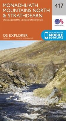 OS Explorer Map (417) Monadhliath Mountains North and Strathdearn (...