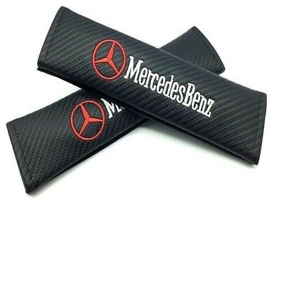 Car Seat Belt Pad Cover Safty Belt For Mercedes Benz Shoulder Pads 2 pcs