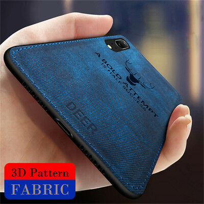 For Huawei P Smart 2019 P20 Lite Case Luxury Hybrid TPU Leather Matte Back Cover