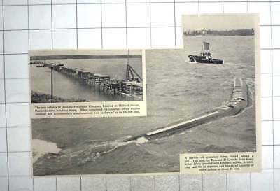 1959 Flexible Oil Container, Dracone D1, Towed Behind Tug