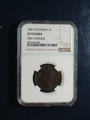 1881 H Canada LARGE Cent NGC XF CIRCULATED 1C Coin BUY IT NOW!