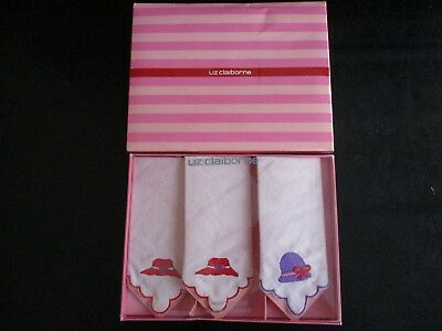 Liz Claiborne Embroidered Handkerchief Set