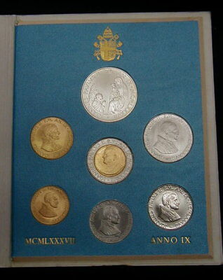 Italy 1989 Vatican complete set coins UNC with silver in official box