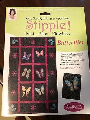 Designs in Machine Embroidery DIME Stipple! Butterflies