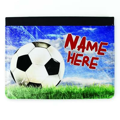Personalised Boys Cover iPad FOOTBALL 2 3 4 5 6 Gen Air Mini Pro Case Gift DP22