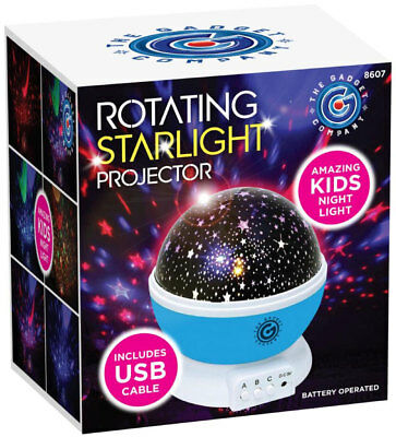 Star and Moon LED Rotating Projector Night Light Kids Bedroom Baby Sleeping Lamp
