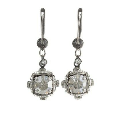 Konplott Earrings Byzantine White Antique Silver