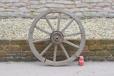 Vintage old small wooden cart wagon wheel  / 71.5 cm - FREE DELIVERY
