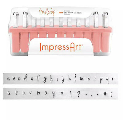 Brand New ImpressArt Melody Lowercase Individual Replacement Stamps Free Postage