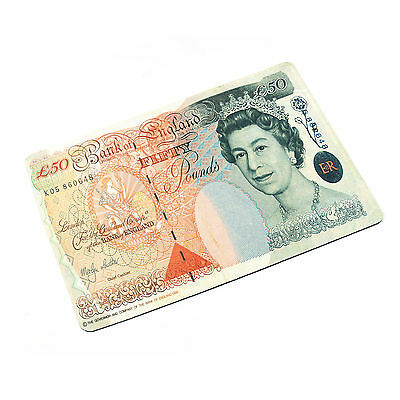 50 British Pounds Sterling Pattern Mousepad Mats For PC Laptop Computer Desktop