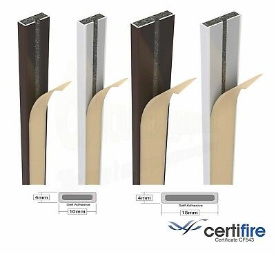 Intumescent Fire Rated Seal Door Strip Set Self Adhesive Certifire Approved