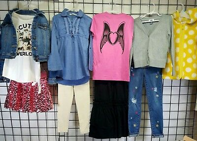 Lot of size 6/7/8 Name Brand Girls Clothes gap Justice h&m Hanna Andersson