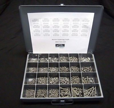 2225 Pc Phillips Pan Head Machine Screw Assortment #6-#10 W/O Drawer