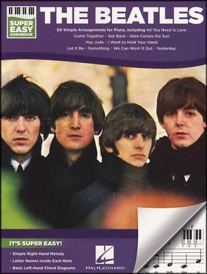 The Beatles Super Easy Songbook Piano Sheet Music Book Back In The USSR Hey Jude