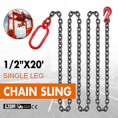 "1/2"" x20' Grade 80 Chain Sling Powder Coating 1/2inch/13mm Corrosion Resistance"