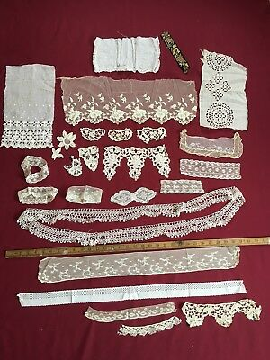 Vintage Lace And Knitting Needle Roll