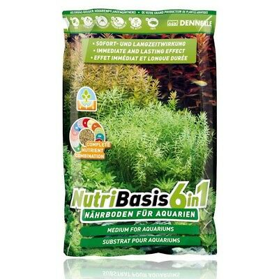 Dennerle NutriBasis 6in1 Aquarium Plant Soil Substrate 2.4kg 4.8kg 9.6kg