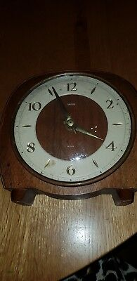 Antique .. Mantle Clock .. Smiths 8 Day Floating Balance .. Not Working