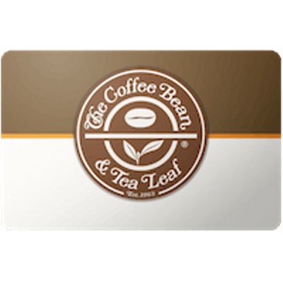 Coffee Bean Gift Card $50 Value, Only $45.00! Free Shipping!