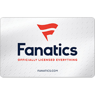 Fanatics Gift Card $50 Value, Only $47.50! Free Shipping!