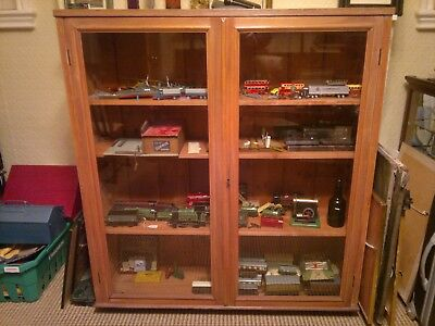 Antique Wood And Glass Display Cabinet circa 1900