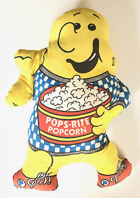 VINTAGE PUFFY PLUSH DOLL from POPS-RITE POPCORN ADVERTISING CHARACTER 1983 Cloth