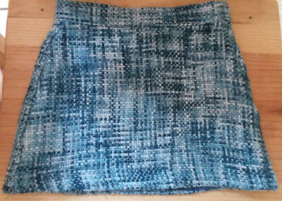Janie and Jack Blue White Winter Skirt Toddler 4 Fully Lined EUC FREE SHIPPING