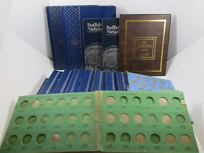 U.S. Buffalo Nickels Over 470 In 15 Various Albums. Great Collector Lot!