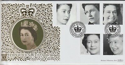 Gb Stamps 2002 Qe2 Jubilee Benham 500 Club First Day Cover From Collection