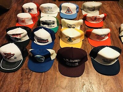 LOT OF 16 Vintage Oil And Gas, Construction And Trucking Hats (#3)