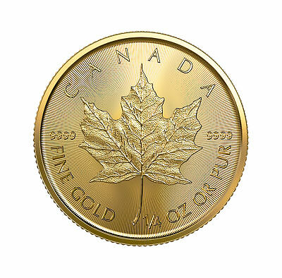 2019 $10 1/4oz Gold Canadian Maple Leaf .9999 BU