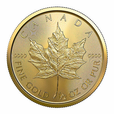 2019 $20 1/2oz Gold Canadian Maple Leaf .9999 BU