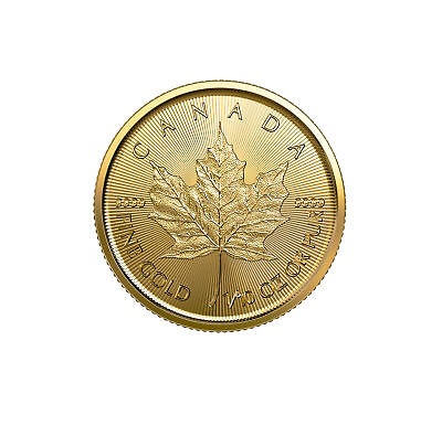 2019 $5 1/10oz Gold Canadian Maple Leaf .9999 BU