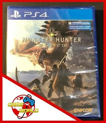 MONSTER HUNTER WORLD - PS4 Playstation 4 - ITALIANO - Nuovo - OFFERTA LIMITATA