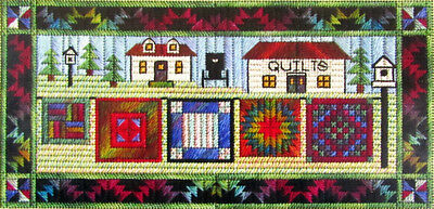 4x Needlepoint Pattern  AiringQuilts/Star-Spangled Birthday/Roses/AutumnLvs-NK80