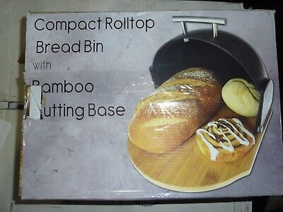 Solander Skelf Rolltop Bread Box with Bamboo Cutting Board