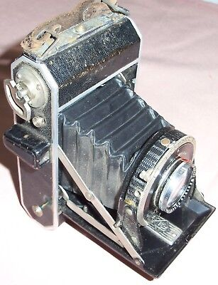 Vintage Compur Folding Camera F.Deckel-Munchen with case  Untested