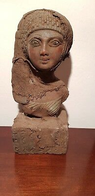 Rare Antique Ancient Egyptian Statue Queen Meritaten beloved of sun1353–1306 BC
