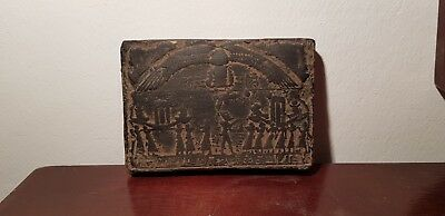 Rare Antique Ancient Egyptian Stela King Ramses Funeral Boat Fly Tour1279–1213BC
