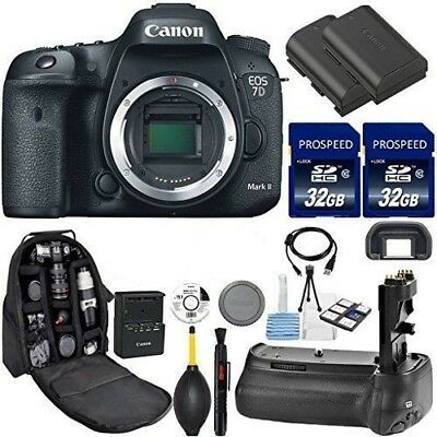 Canon EOS 7D Mark II DSLR - Body + Canon 50mm Lens + Accessories - Slightly Used