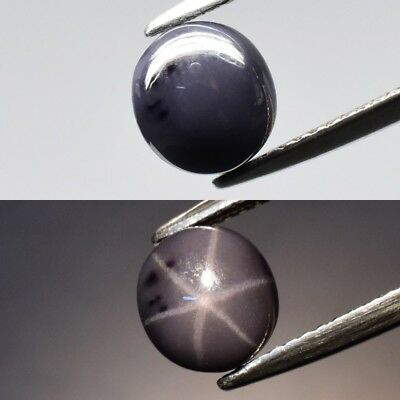 Rare! 2.66ct 7.7x7mm Oval Cabochon Natural Purple Sharp 6 Ray Star Spinel