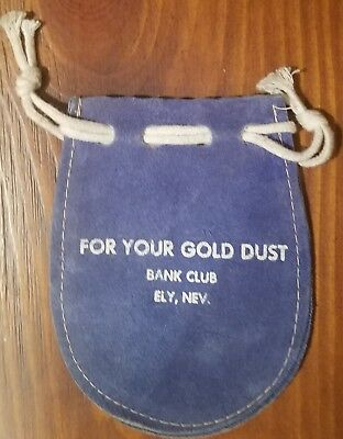 Suede Leather Money Bag- Bank Club. Ely, NV