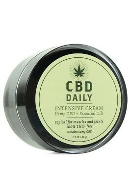 CBD Daily Intensive Cream Hemp Oil Supplements THC Free Muscle Joint Pain Relief