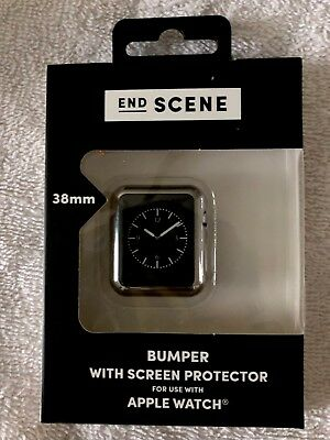 NEW End Scene 38 MM Bumper With Screen Protector For Apple Watch